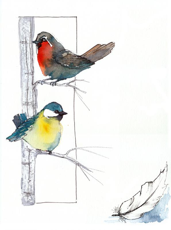 Tuto Page De Carnet De Voyage Oiseaux
