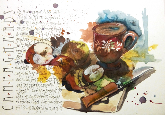 #tuto 9-composition fond aquarelle et texte