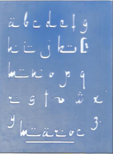 pochoir d'inspiration calligraphie arabe