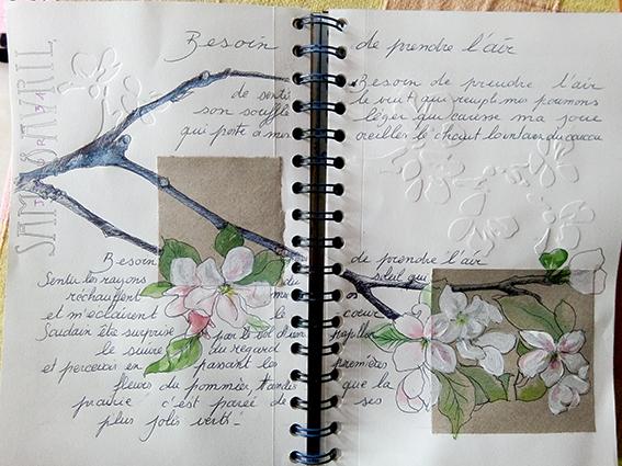 #17 bis- Composition avec embossage et aquarelle
